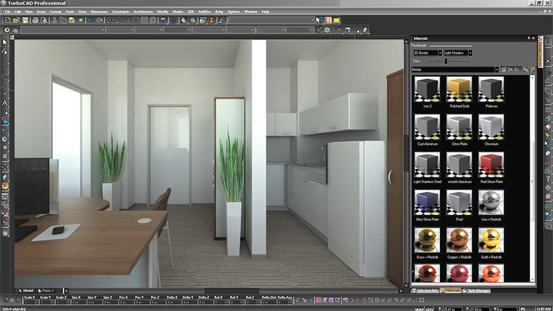 Turbo CAD Design Software. Kitchen Design Sample Image.